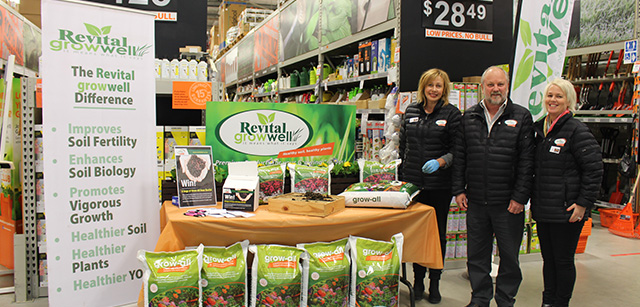 Revitals Growwell Team take their compost worms to Mitre 10 ladies Night!